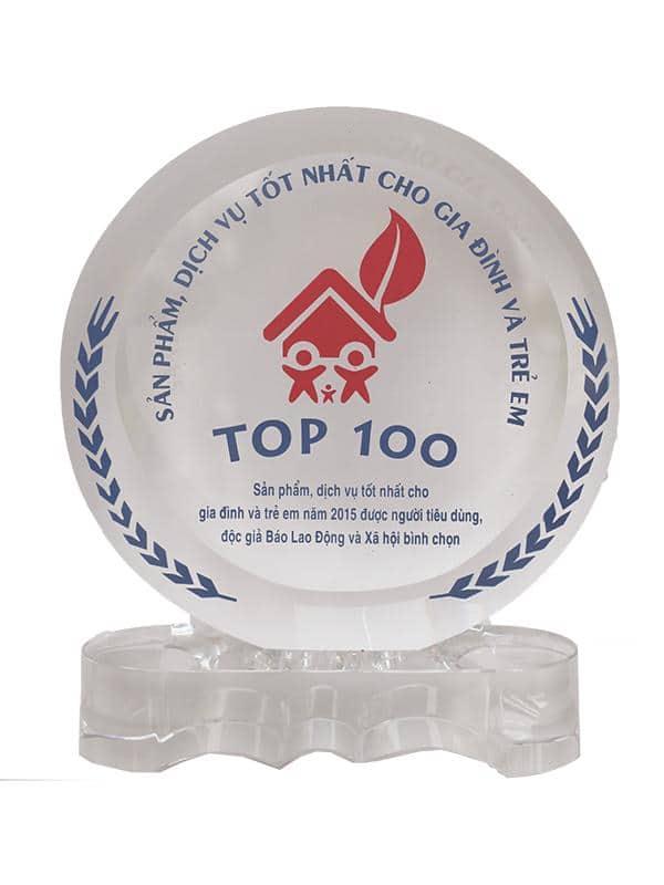 Giải thưởng: Top 100 sản phẩm tốt cho gia đình & trẻ em 2015