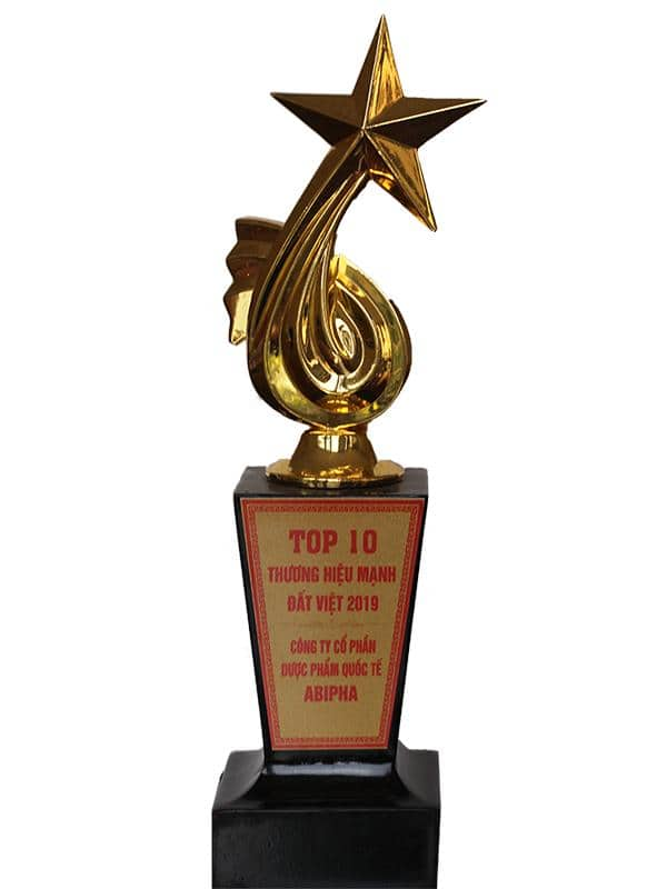 Giải thưởng: Top 10 thương hiệu mạnh đất Việt 2019